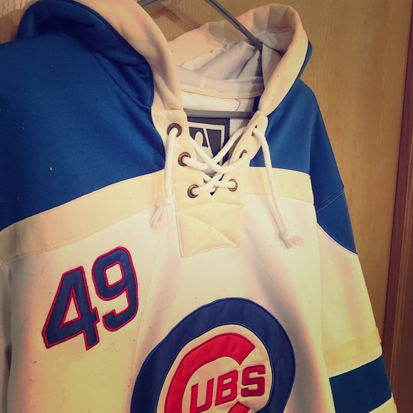wholesale dealer 340b2 22a71 Chicago Cubs Hockey Sweater